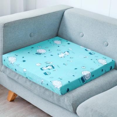 奶油獅-森林野餐-高支撐記憶聚合紓壓坐墊/沙發墊/實木椅墊54x56cm-藍(一入)