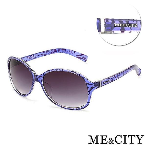 【南紡購物中心】【SUNS】ME&CITY 時尚歐美 透明紋路太陽眼鏡 義大利設計款 抗UV400 (ME 1219 H01)