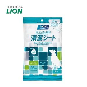 日本獅王 寵物清爽潔膚巾 犬用x3入