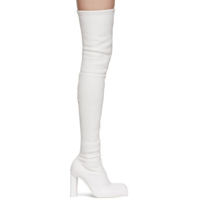 Alexander McQueen 白色 Peak 高筒靴