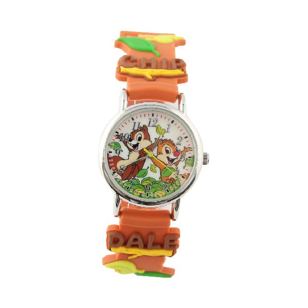 【Disney】奇奇蒂蒂 造型橡膠兒童錶-CD-3K2398P-002BN-原廠授權一年保固
