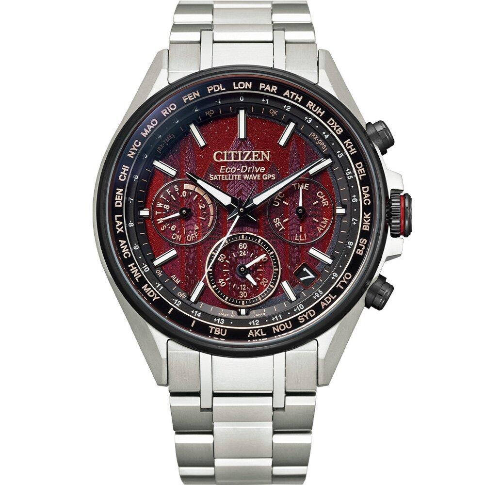 CITIZEN 星辰 東京˙紅限量版 鈦金屬 GPS衛星較時腕錶 CC4005-71Z