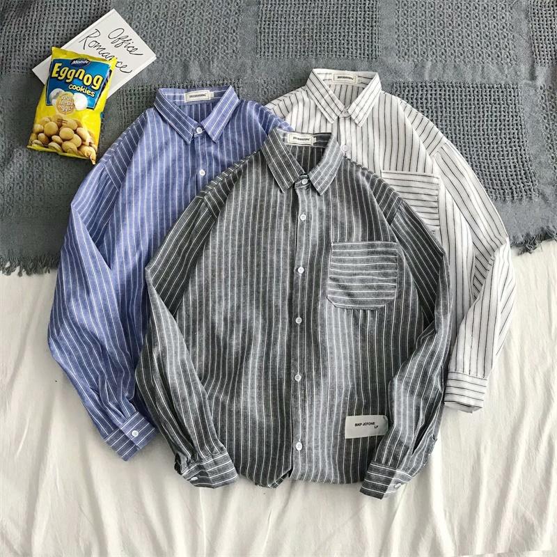 男士時尚襯衫新品上架男士格子襯衫休閒襯衫高品質時尚設計男士正裝襯衫