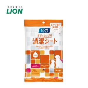 日本獅王 寵物清爽潔膚巾 幼犬貓用x3入