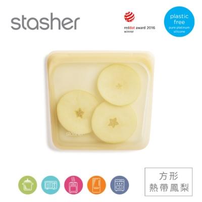 美國Stasher 方形白金矽膠密封袋-熱帶鳳梨