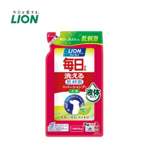 獅王 每日洗清潔潤絲二合一 犬用補充包x2入