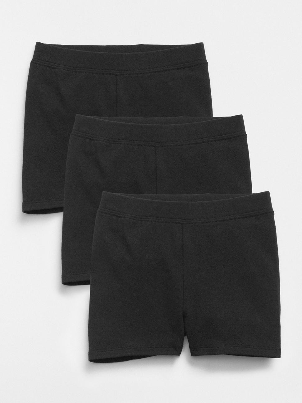 幼童 舒適彈力鬆緊短褲(三件裝)