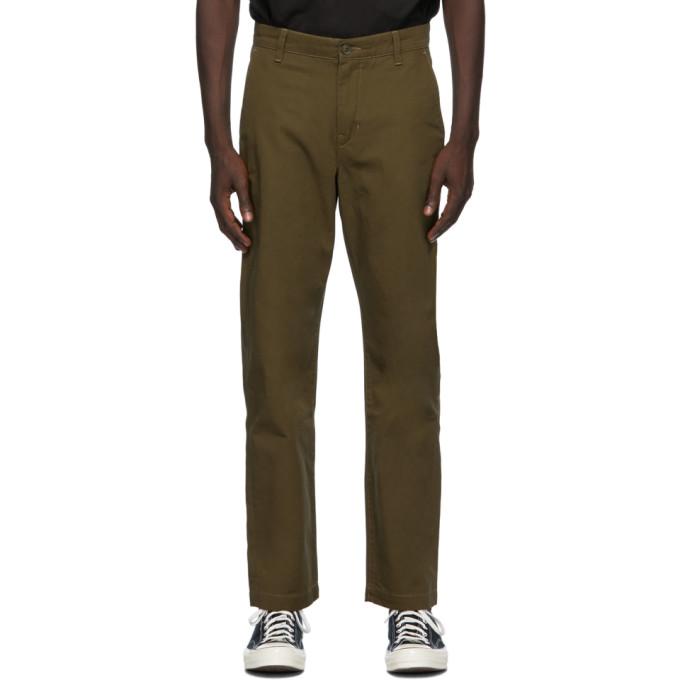 Levis Made and Crafted 军绿色 Standard Chino 长裤