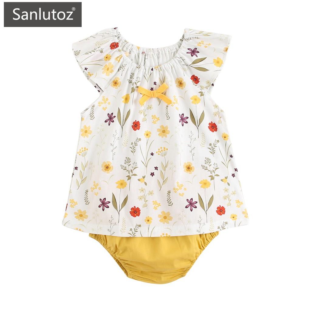 Sanlutoz 夏款女寶寶套裝 時尚印花