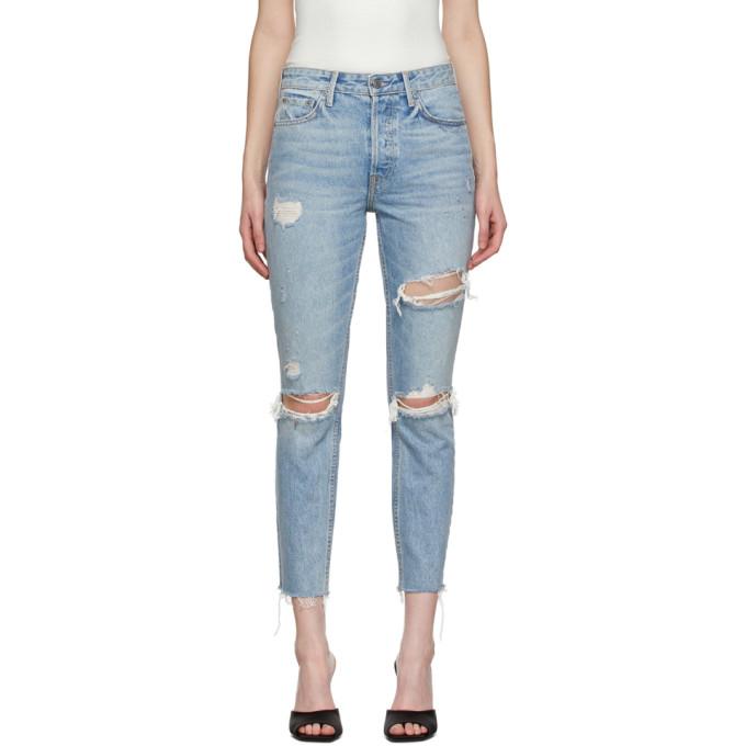 Grlfrnd 蓝色 Karolina 牛仔裤