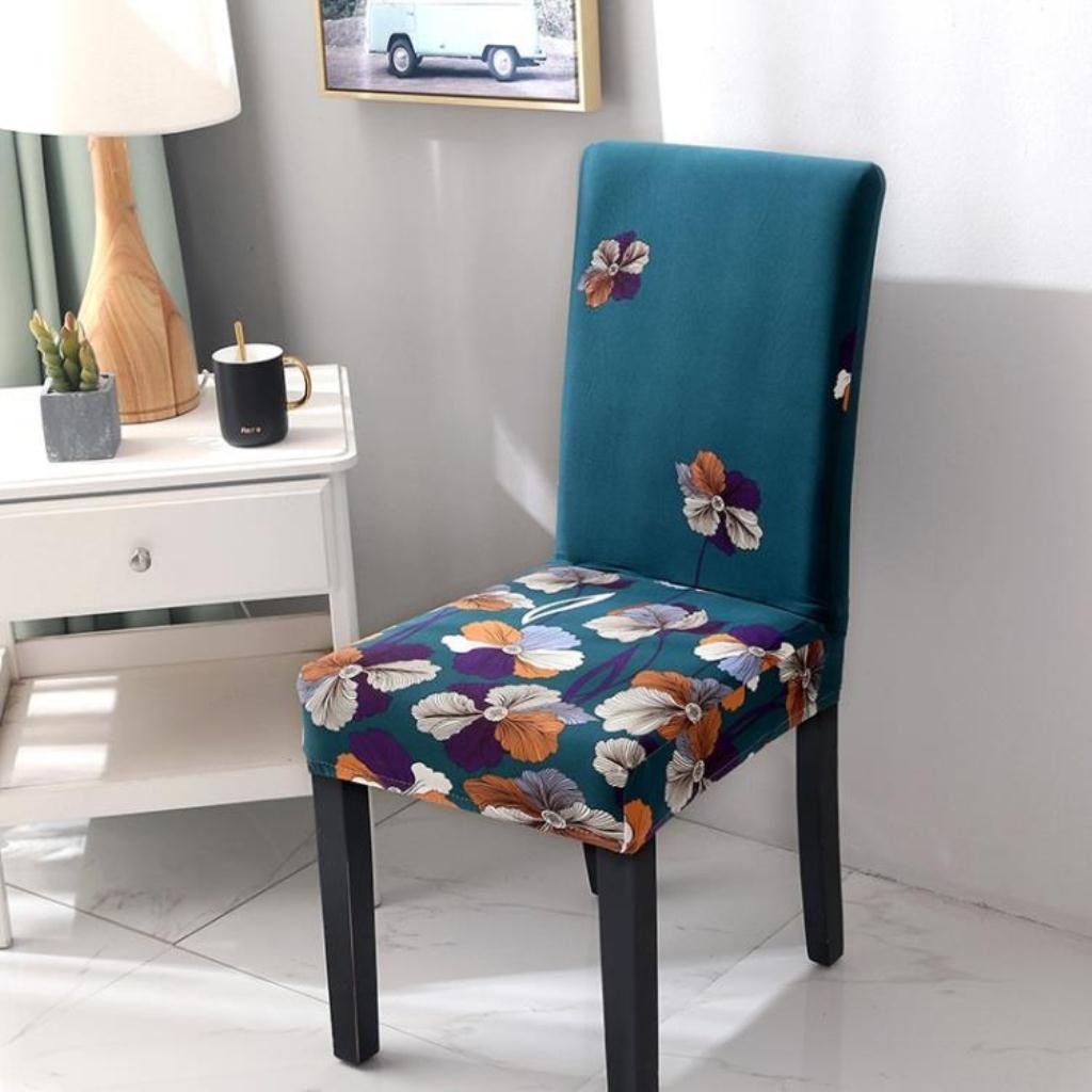 店長推薦 椅套 椅套罩四季通用 家用椅子套彈力布 時尚現代餐椅套椅墊套子兩個裝 新品免運
