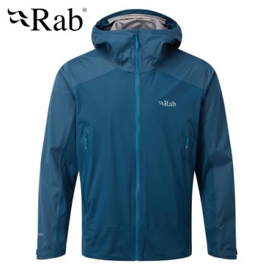 【英國 RAB】Kinetic Alpine Jkt 高透氣彈性防水連帽外套 男款 墨藍 #QWF75