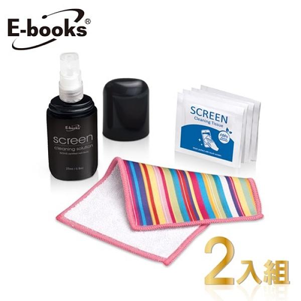 【南紡購物中心】E-books A12 雙面加厚擦拭布三合一清潔組 2入組