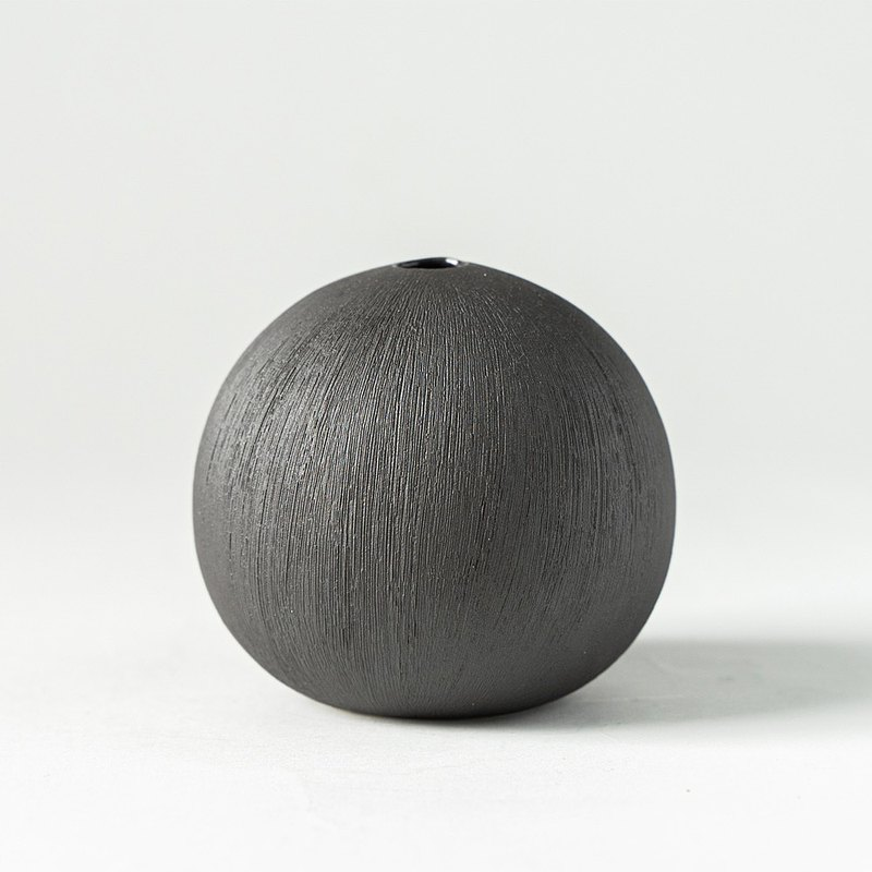 花器/花瓶  深棕大圓球花器