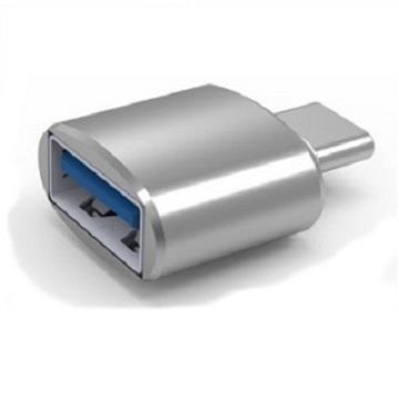 ZBAND USB3.0 轉Type-C鋁合金轉接頭-銀(USBTOTYPECCONN)
