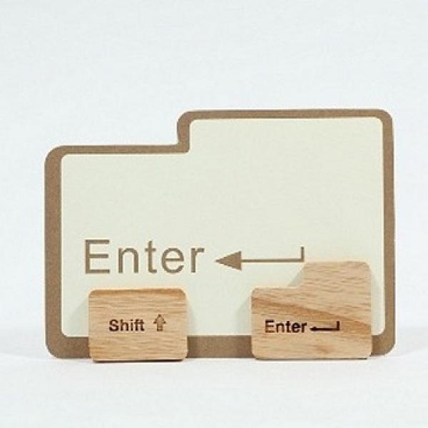【南紡購物中心】Unic天然原木造型磁鐵(Enter Sfift鍵)+精品禮卡