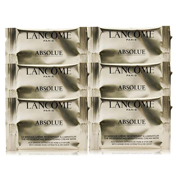 LANCOME 蘭蔻 絕對完美24K黃金玫瑰霜面膜(0.5g)X6迷你片