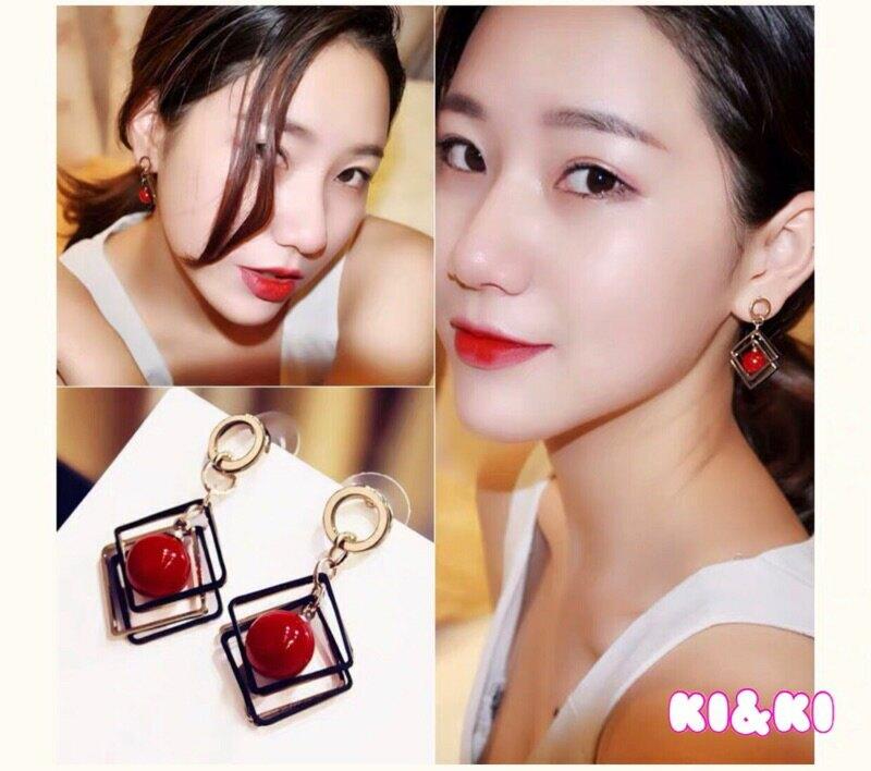 韓版 幾何圖形耳飾 / 女生耳墜 / 耳針 耳夾