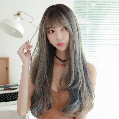 假髮 整頂假髮 長假髮-時尚捲髮空氣瀏海女配件4色73ef18 [獨家進口][米蘭精品]
