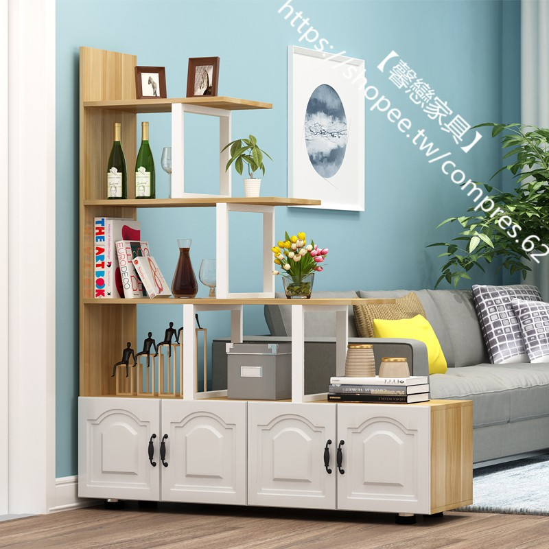 【馨戀家具】客廳隔斷置物架門廳進門玄關柜雙面花架裝飾屏風沙發旁北歐經濟型