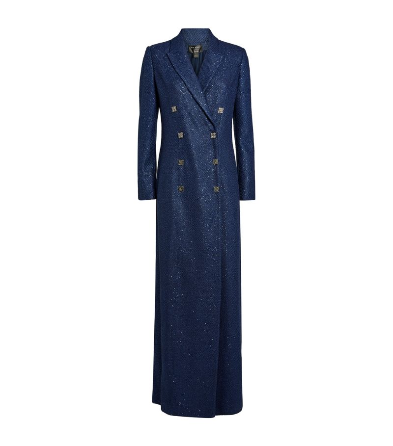 St. John Sequin-Embellished Jacket Gown