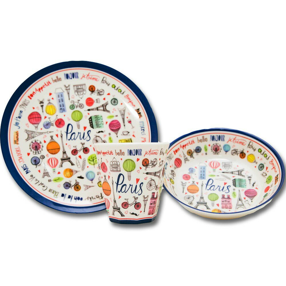 [現貨] 日本 Aimez le style野美鹿 下午茶圓型餐盤-巴黎地標