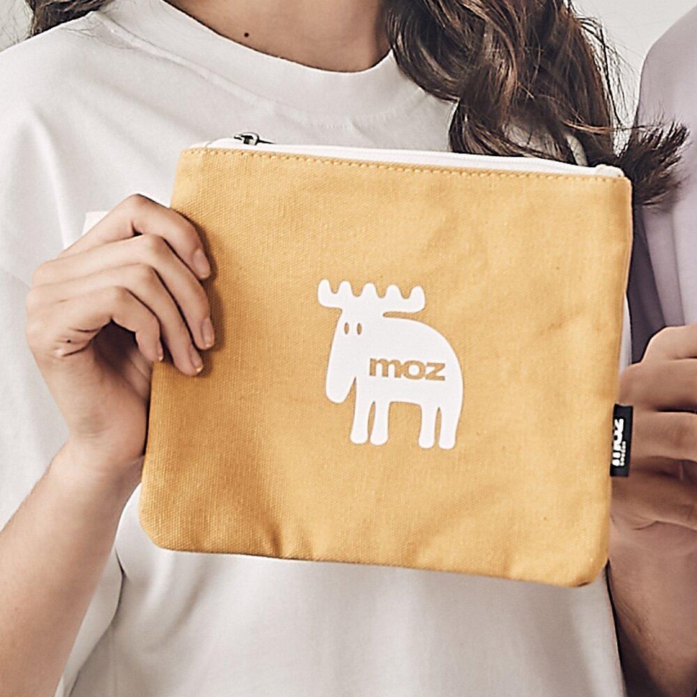 moz瑞典小駝鹿手拿化妝收納包-黃