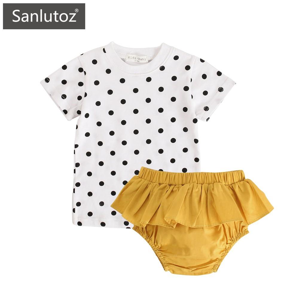 Sanlutoz 純棉夏季 女寶寶套裝 休閒可愛
