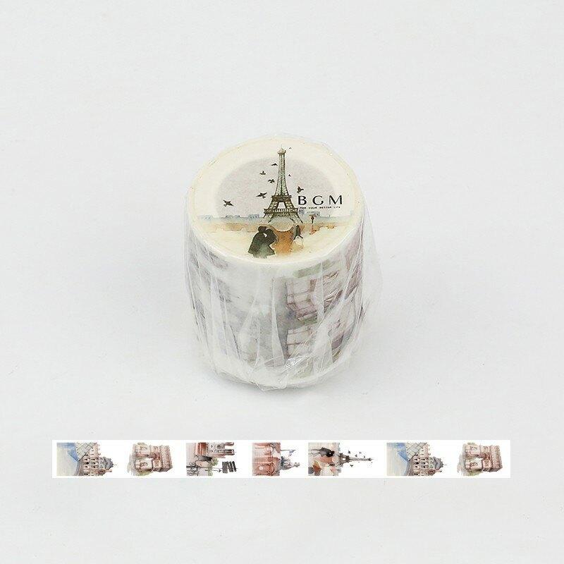 [現貨]  BGM 日本紙膠帶 法國景點紙膠帶 水彩世界景點