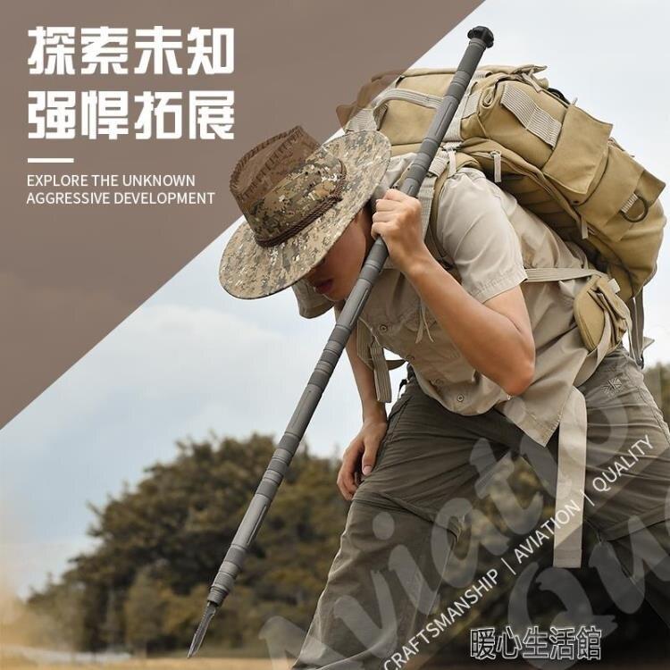 登山杖戶外多功能棍棒手杖拐杖帶刀爬山登山裝備徒步防身棍登山棍  新年鉅惠 台灣現貨YJT
