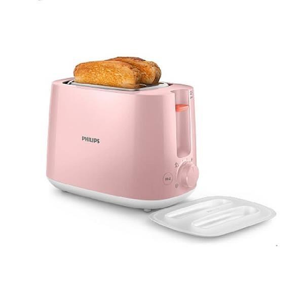 【南紡購物中心】飛利浦 PHILIPS 電子式智慧型烤麵包機/瑰蜜粉 HD2584/52