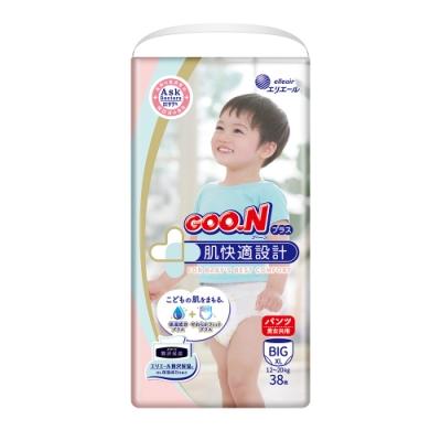 日本大王GOO.N境內版-肌快適系列跳跳褲-褲型紙尿布-(XL)38片x3包/箱
