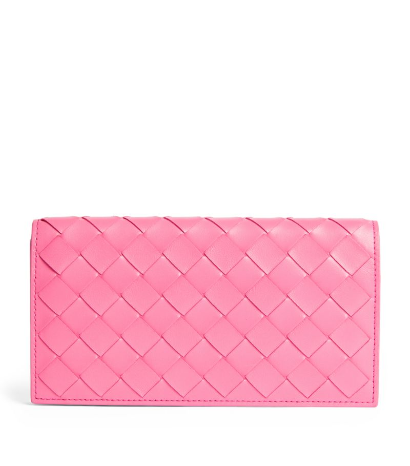 Bottega Veneta Large Leather Intrecciato Continental Wallet