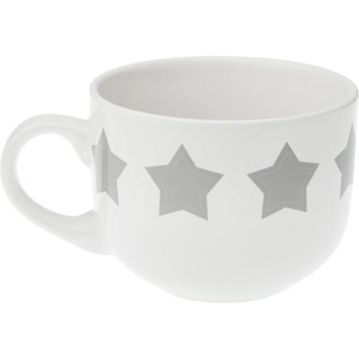 《VERSA》寬口陶製馬克杯(灰星星500ml)