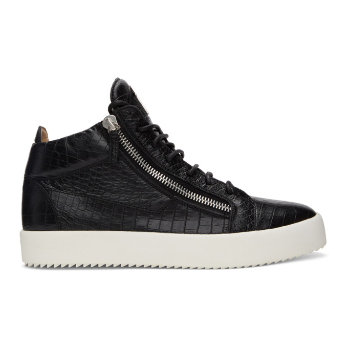 Giuseppe Zanotti 黑色 Darwin May London 高帮运动鞋