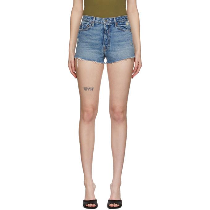 Grlfrnd 蓝色 Cindy 牛仔短裤