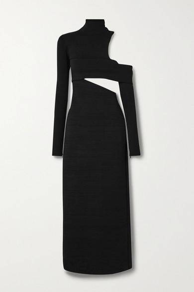 Proenza Schouler - 露肩挖剪弹力针织超长连衣裙 - 黑色 - medium
