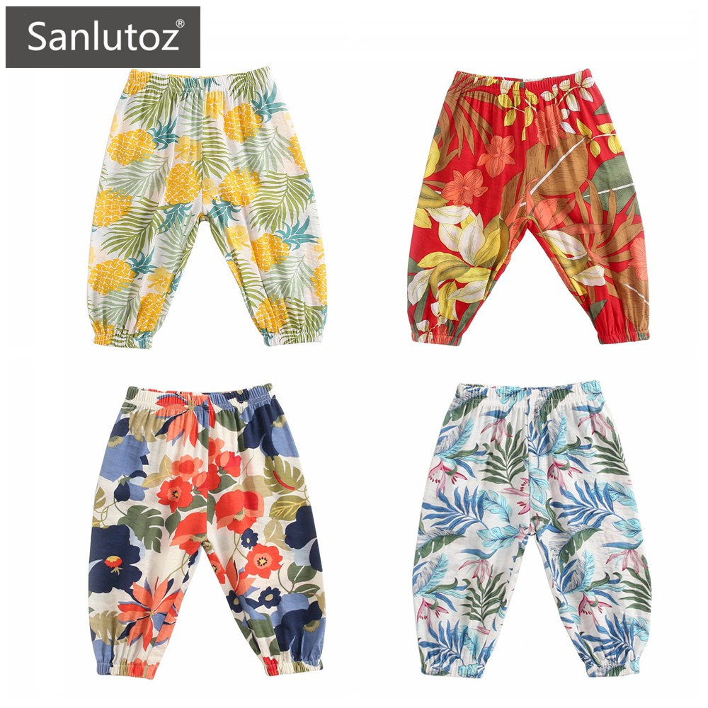 Sanlutoz 寶寶夏季防蚊褲長褲 純棉碎花 時尚印花 休閒舒適