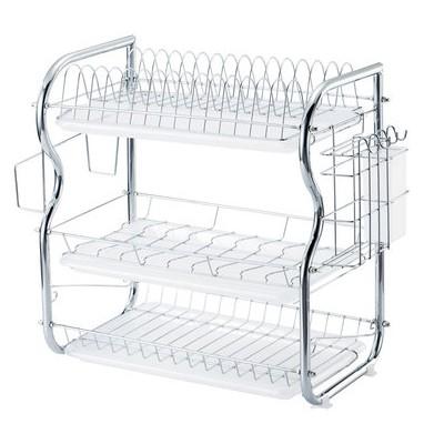 廚房置物架 收納架 三層碗架 瀝水架 刀具碗碟收納架 放碗用品架 碗盤架 洗碗架