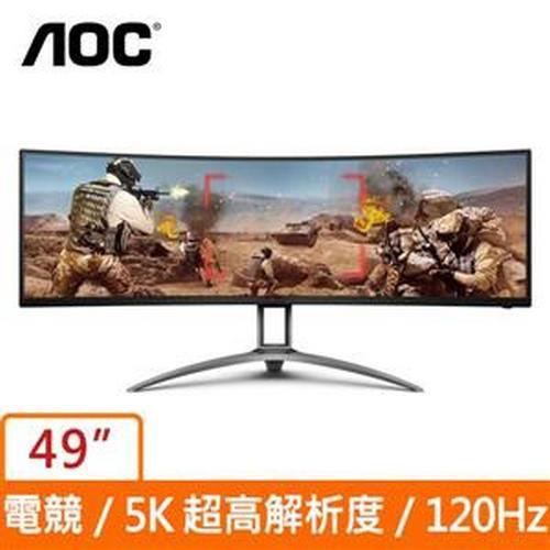 AOC AG493UCX 49型 5K 32:9 HDR超寬曲面電競螢幕