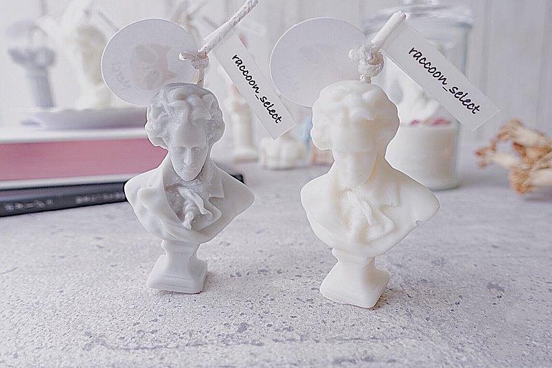 貝多芬雕像 可選色 | 100%天然大豆蠟手工精油蠟燭