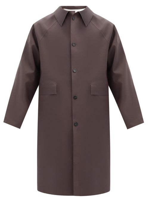 Kassl Editions - Original Rubber Trench Coat - Mens - Dark Brown