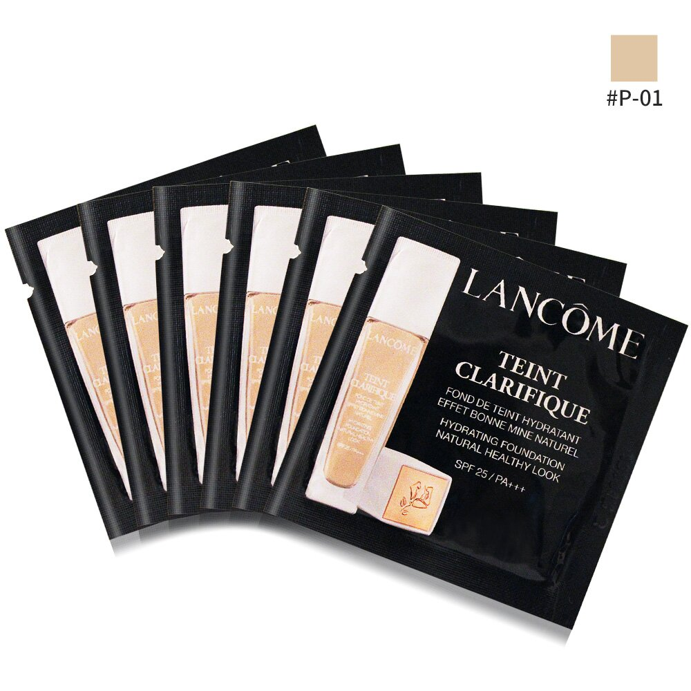 LANCOME 蘭蔻 超極光精華水粉底 SPF25/PA+++(1ml)X6#P-01