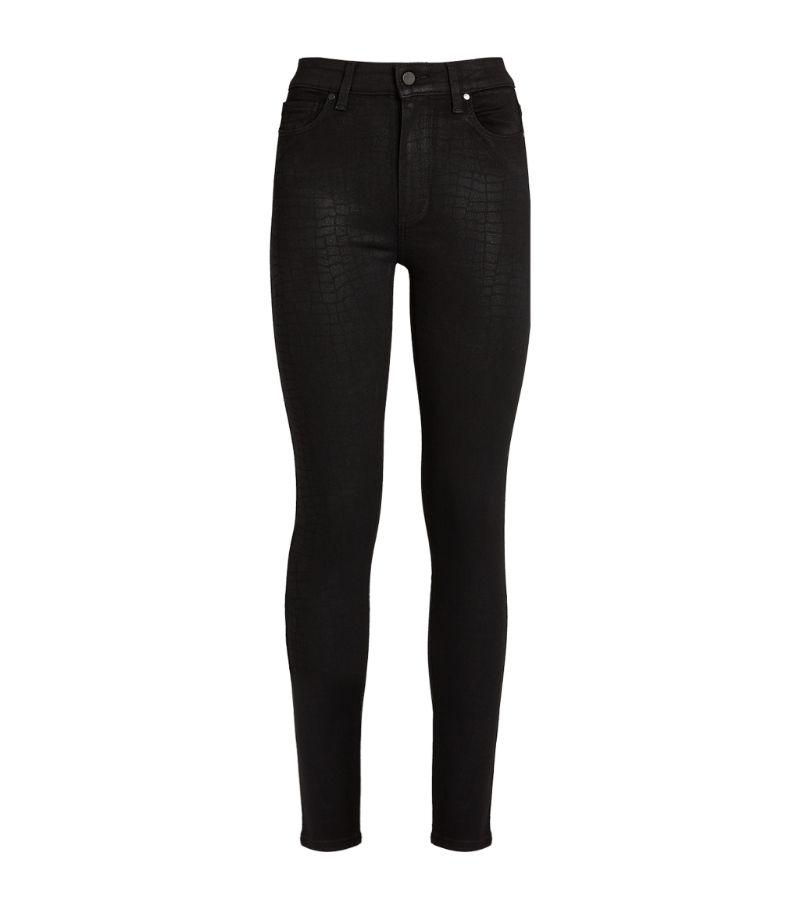 Paige Crocodile Print Hoxton Ultra-Skinny Jeans