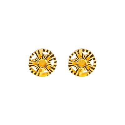 JoveGold漾金飾 萬眾矚目黃金耳環