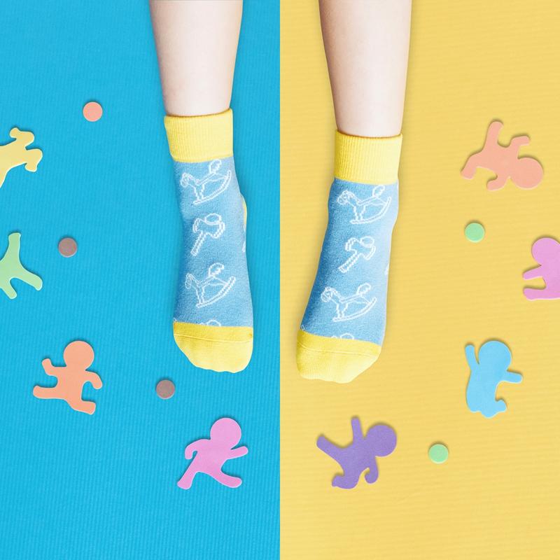 【sokker®】兒時童玩防滑4分之3童襪/15-17cm