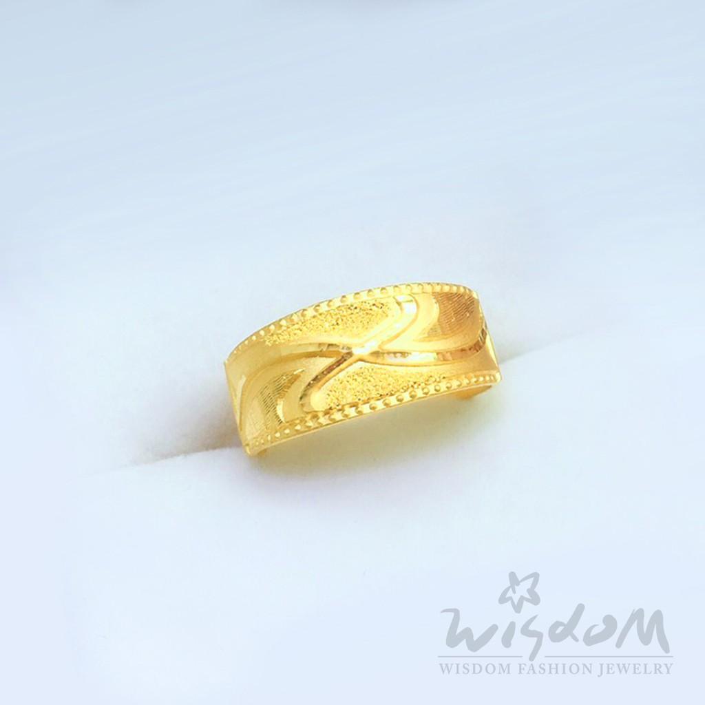 威世登 黃金流線型戒指 增值 保值 戒指推薦 GA01599-IXX-FIX