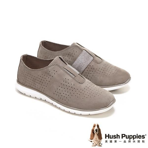 【南紡購物中心】Hush Puppies 鬆緊帶直套休閒鞋 女鞋-藕灰(另有黑)