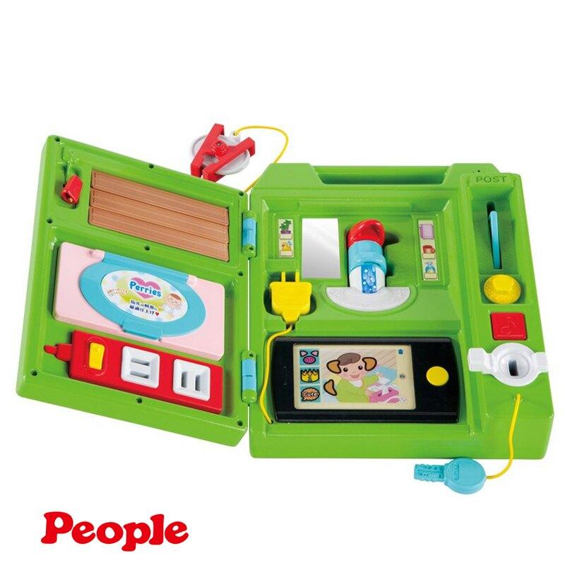 日本 People 益智手提聲光遊戲機 益智 早教 聲光學習玩具 2525