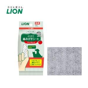 日本獅王 親親齒垢清潔紙巾 蘋果香x3入